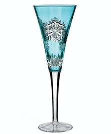 Waterford 2018 Snowflake Wishes for Happiness Prestige Edition Flute Aqua