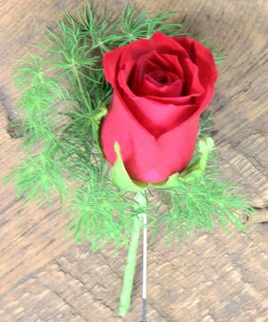 Sweetheart Rose Boutonniere