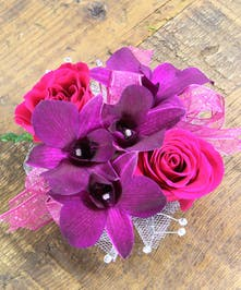 Sweetheart Rose & Dendrobium Orchid Corsage