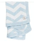 Dolce Chevron Baby Blanket in a Box - Blue