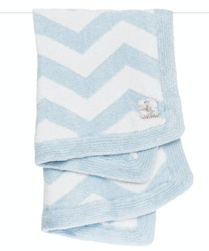 Baby will LOVE snuggling with our feathery soft Dolce™ Chevron Blanket. The graphic pattern knit into this blanket makes it the perfect addition to any modern nursery.