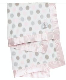 Our signature Luxe™ Dot Blanket is sure to delight! Sweet pastel dots and silky satin edges enhance our ultrasoft faux fur.