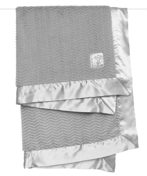 Baby will LOVE the embossed texture and silky soft comfort of this dual-sided blanket.