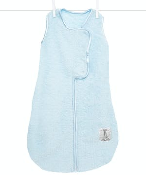 Our unique design in stretch chenille has snaps at the top to keep baby cozy, while the bottom zipper allows for easy diaper changes. Made for layering.