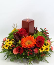 This centerpiece includes a  7