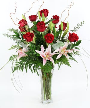 Twelve Roses & Lilies - Gainan's Flowers - Billings MT