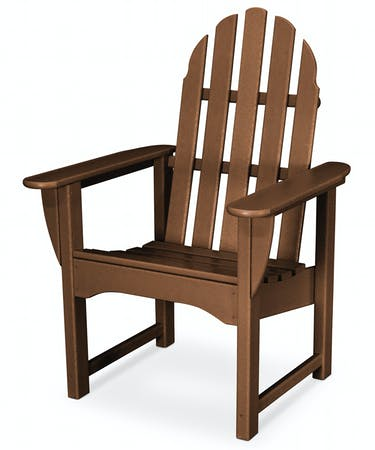 Classic Adirondack Casual Dining Chair - Traditional Colors
